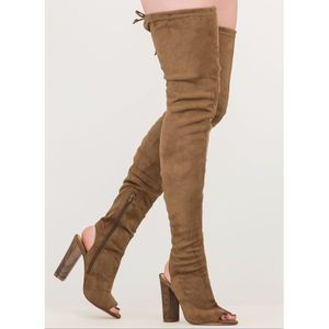 Over the knee adjustable thigh high boots